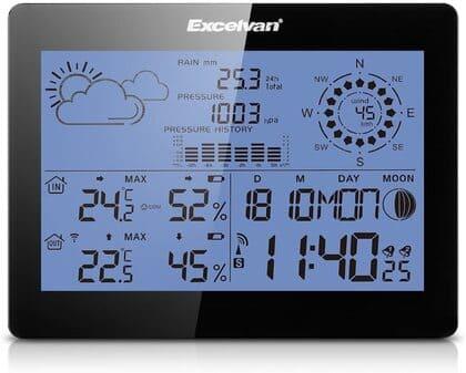 EXCELVAN Estación meteorológica inalámbrica profesional