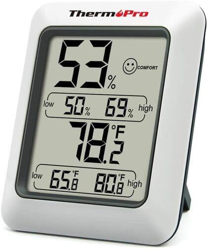 ThermoPro Termómetro Higrometro Digital para Interior Termohigrómetro Medidor Profesional
