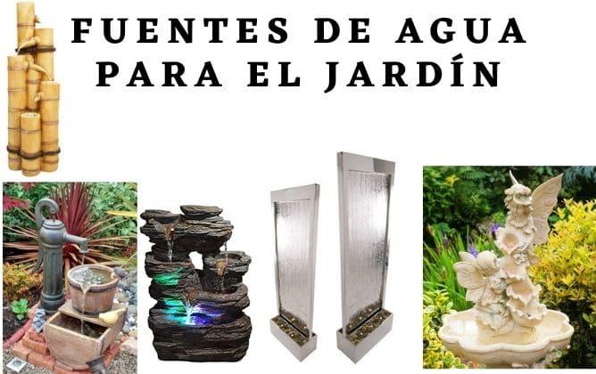 fuentes de agua para jardín exterior